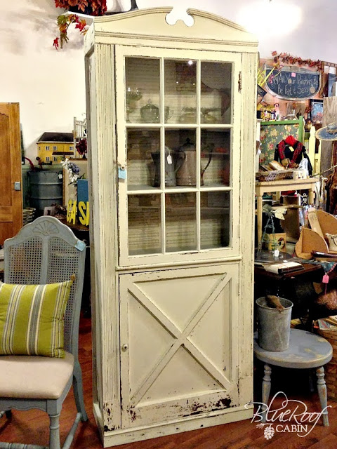 Vintage Door Turned Into A Cabinet