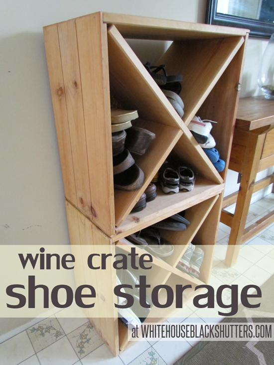 Wine Crate Shoe Storage