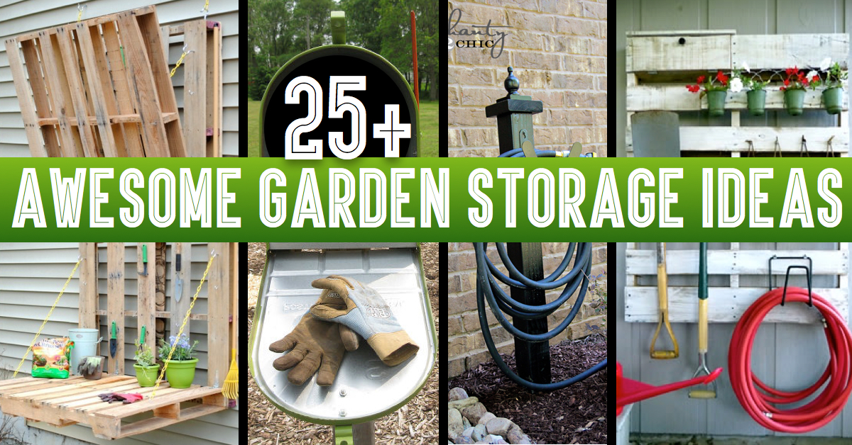 Garden Hose Storage Ideas diy garden hose storage 25 Awesome Garden Storage Ideas For Crafty Handymen And Skilled Moms