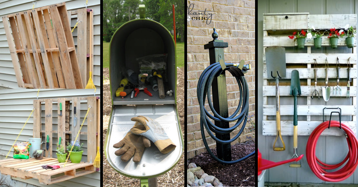 Garden Hose Storage Ideas easy water hose storage 25 Awesome Garden Storage Ideas For Crafty Handymen And Skilled Moms Page 2 Of 2 Cute Diy Projects