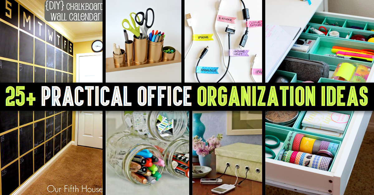 Amazing 25 Practical Office Organization Ideas And Tips For The Busy Largest Home Design Picture Inspirations Pitcheantrous