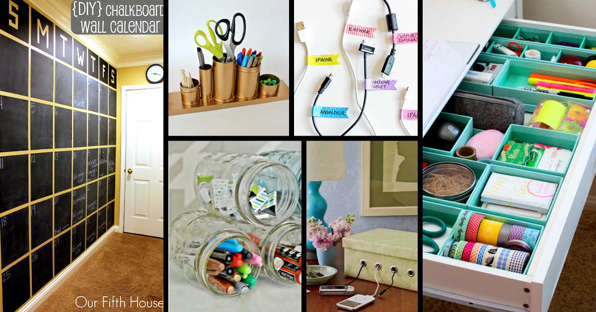 Beautiful 25+ Practical Office Organization Ideas And Tips For The Busy Modern Day  Professional! U2013 Cute DIY Projects