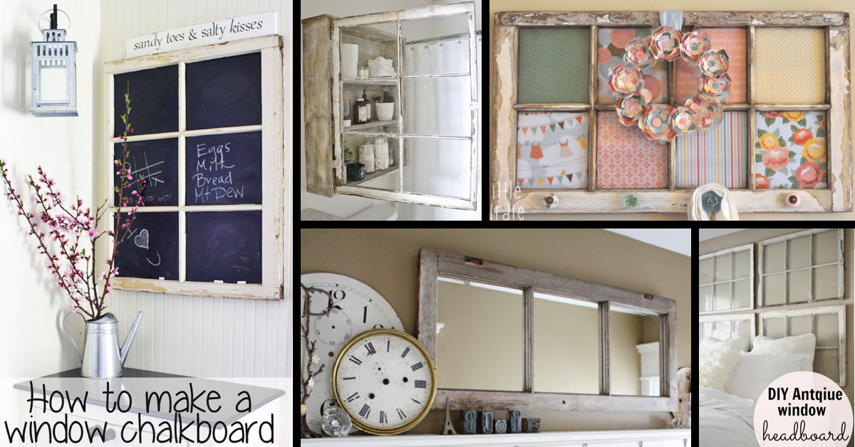 . 30  DIY Craft Projects Using Old Vintage Windows   Cute DIY Projects