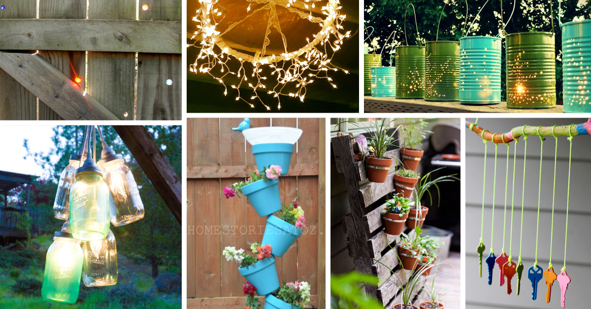 40 outstanding diy backyard ideas for Homemade garden decor crafts