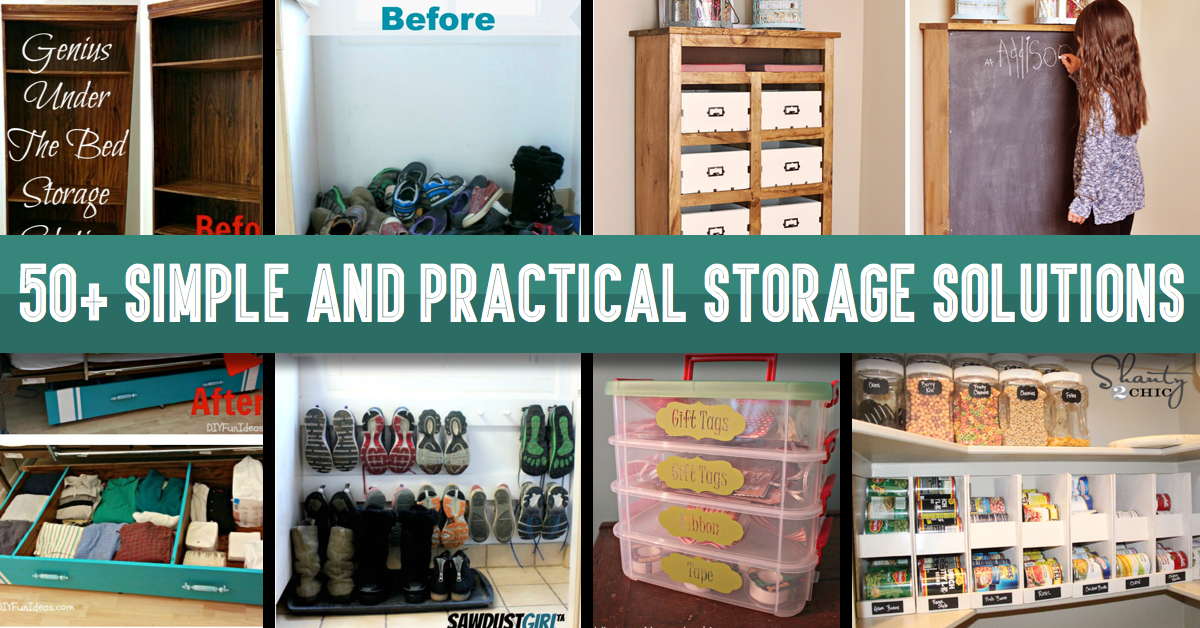 50 Simple And Practical Storage Solutions For Your Home Cute Diy Projects