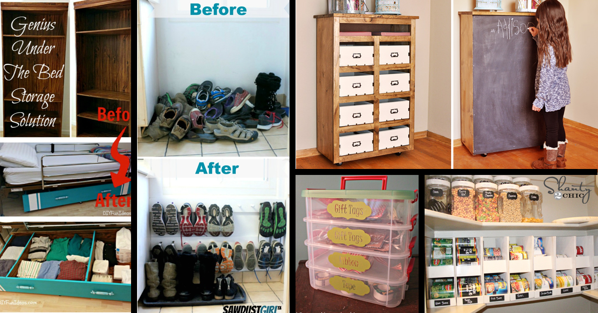 50 simple and practical storage solutions for your home for In house storage solutions