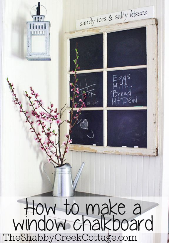A Fancy Window Chalkboard