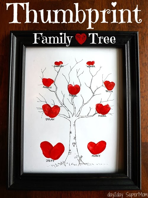 A Lovely Thumbprint Family Tree For Your Supermom
