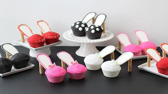 Adorable Stiletto Cupcakes