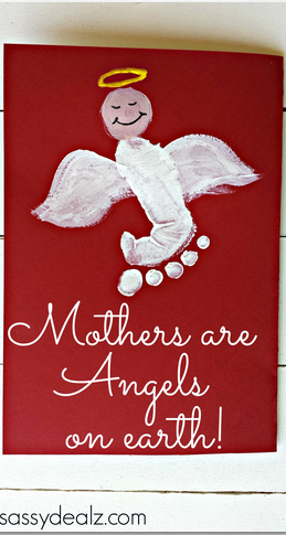 Angels And Footprint-Themed Card For Mother's Day