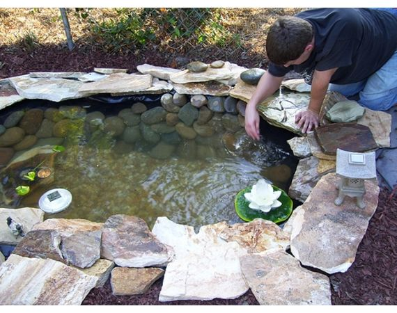 Give your backyard a complete makeover with these diy for Diy patio pond