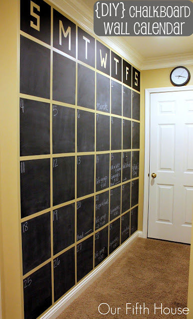 Wonderful DIY Chalkboard Wall Calendar!