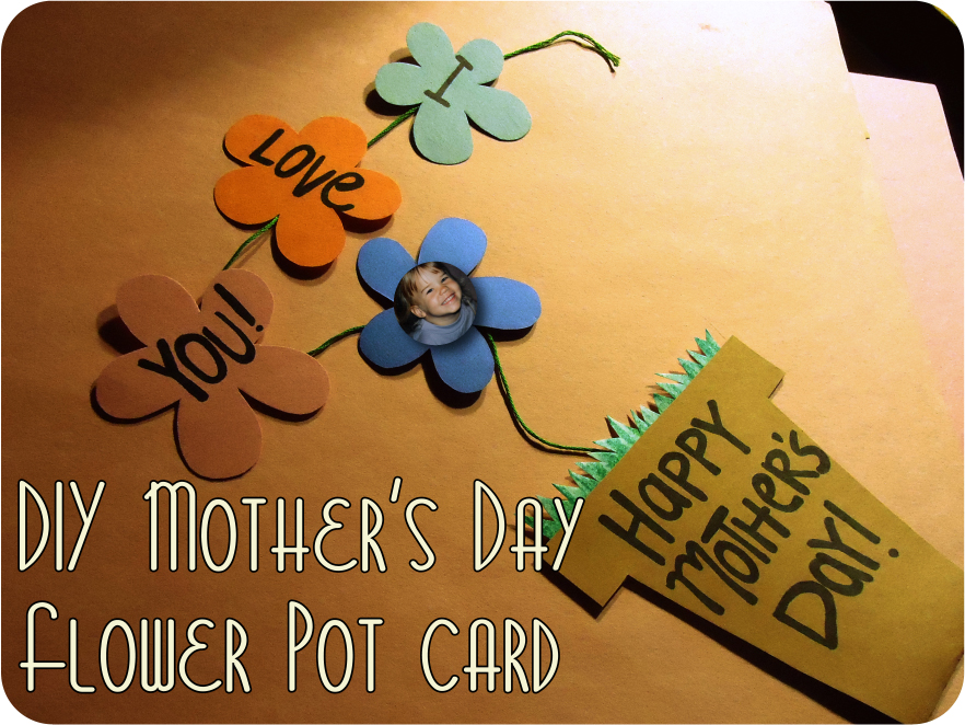 DIY Mother's Day Flower Pot Card