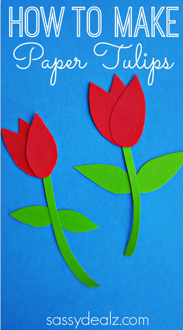 Easy Craft For Kids - Paper Tulips
