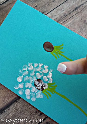 FIngerprint Dandelion Craft Idea