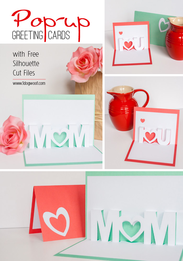 Free Silhouette Cut Files Embedded In Pop-Up Cards