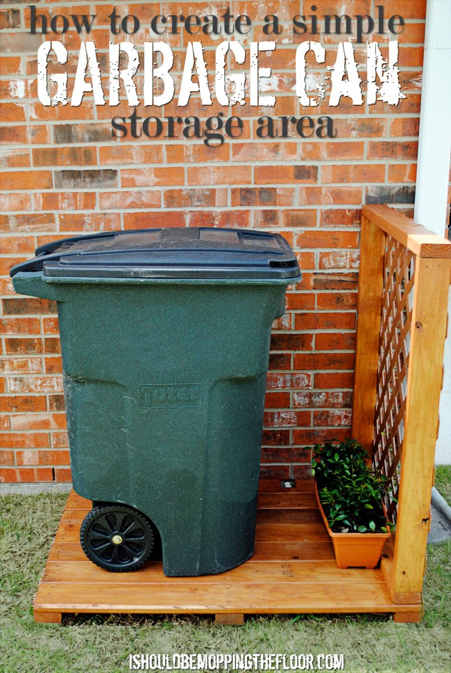 Garbage Can Storage Area
