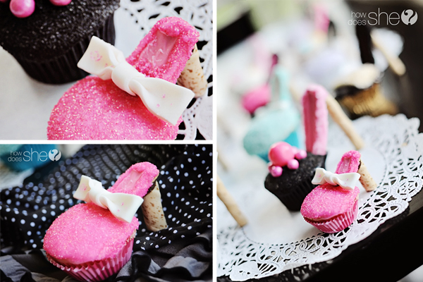 Heel Cupcakes In Different Designs