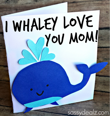 """I Whaley Love You"" Card"