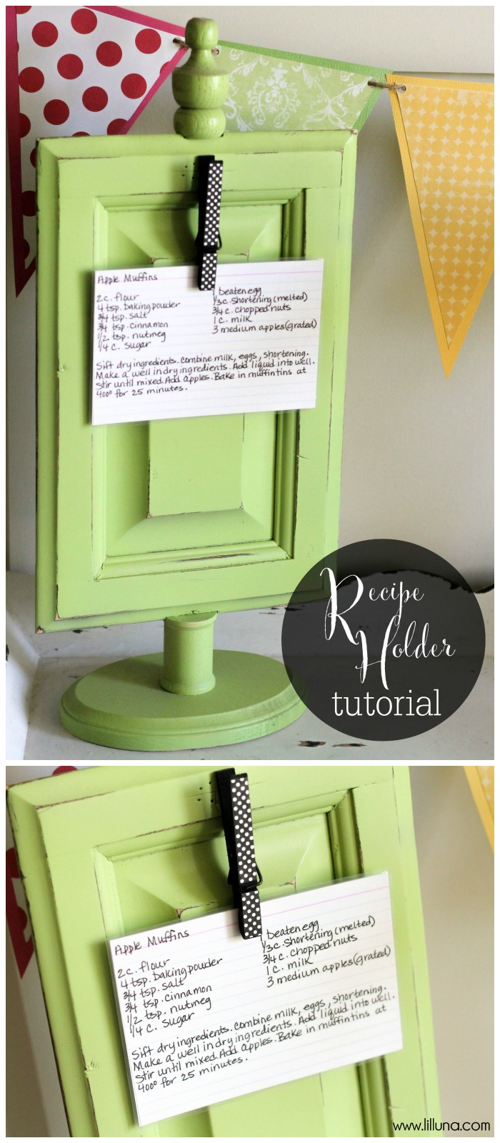 Make Your Mommy Her Own Personalized Recipe Holders