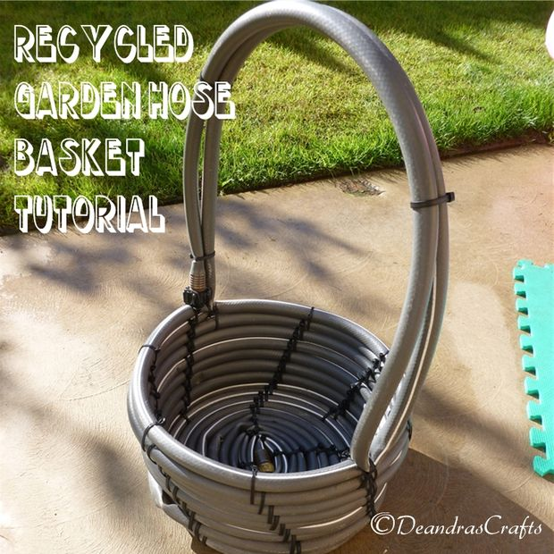 Garden Hose Storage Ideas 47 best creative garden hose storage ideas Recycled Water Hose Basket