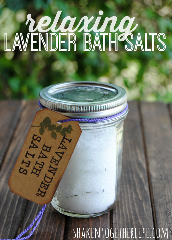 Relaxing Lavender Bath Salts For Moms