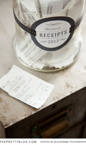 Use Mason Jars To Store All Your Paperwork