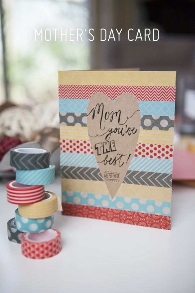 Use Washi Tape For A Truly Exquisite Mother's Day Card