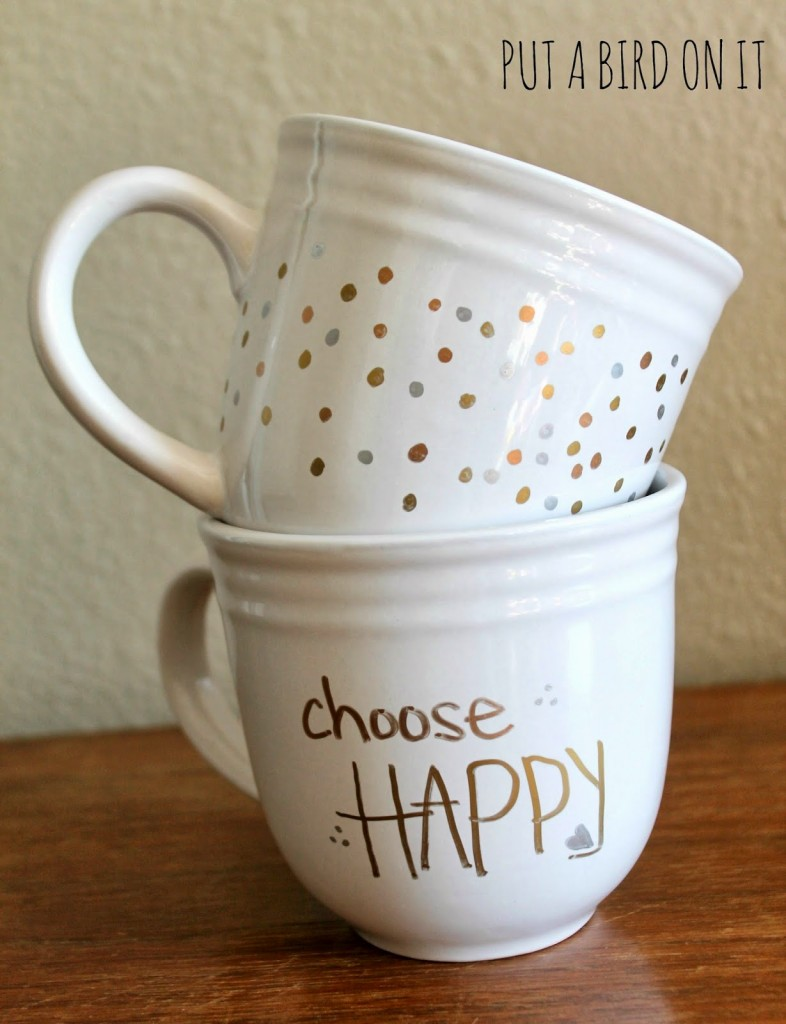 West Elm Inspired Sharpie Mugs