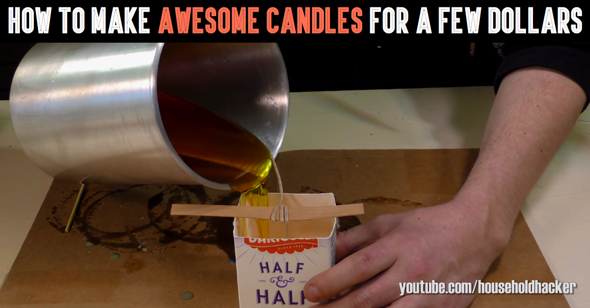 With Just An Old Milk Carton And Some Wax You Can Create Something Unbelievable