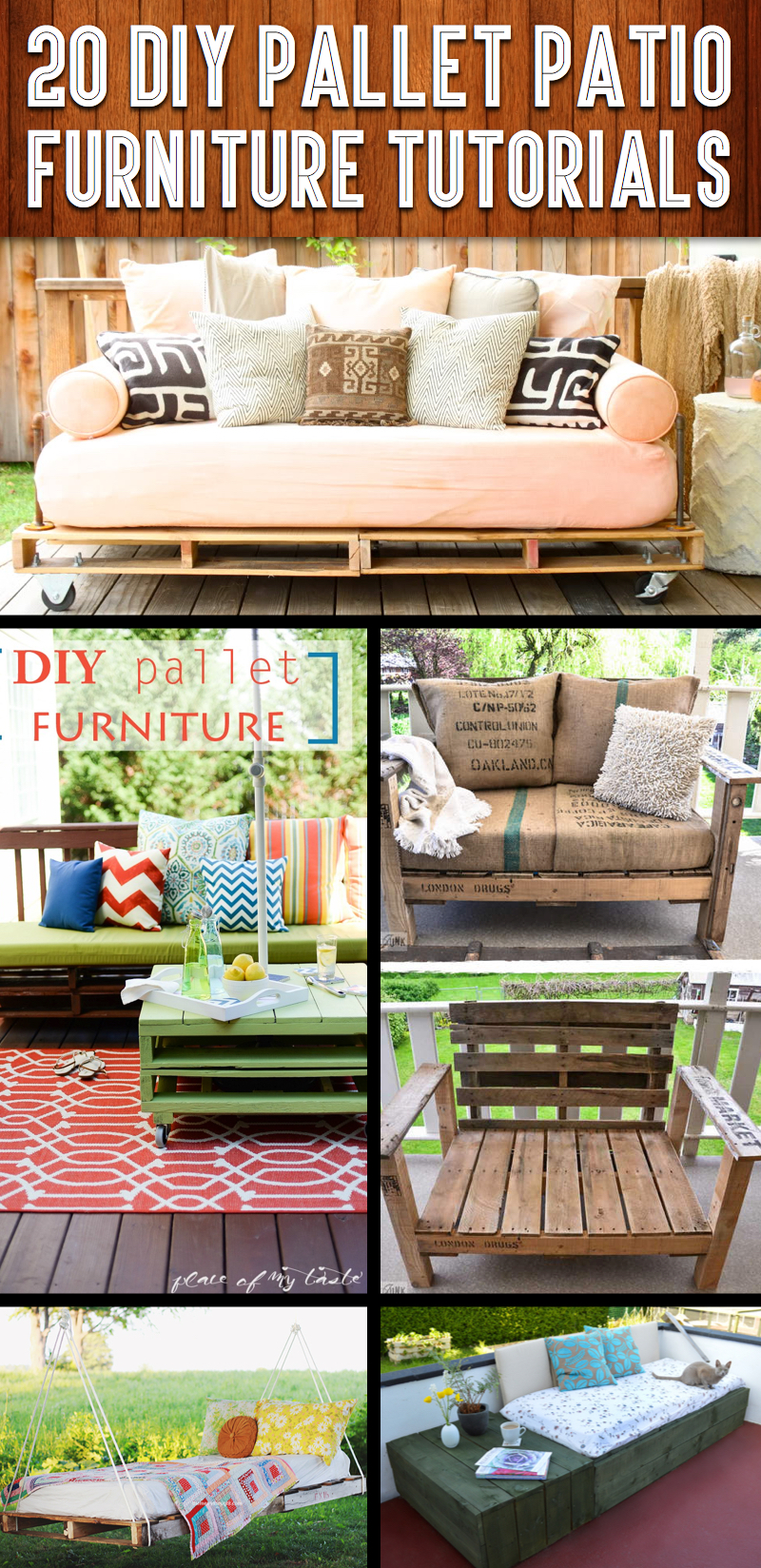 20 DIY Pallet Patio Furniture Tutorials For A Chic And Practical