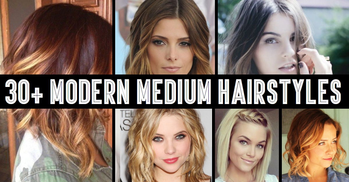 30 modern medium hairstyles for a clean cut hollywood look cute 30 modern medium hairstyles for a clean cut hollywood look solutioingenieria Gallery