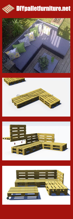 3D Plans For An Outdoor Pallet Sofa