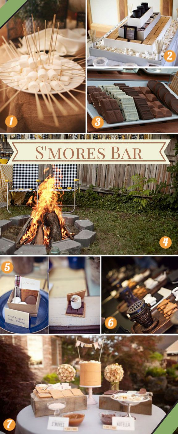 Awesome Outdoor S'Mores Bar