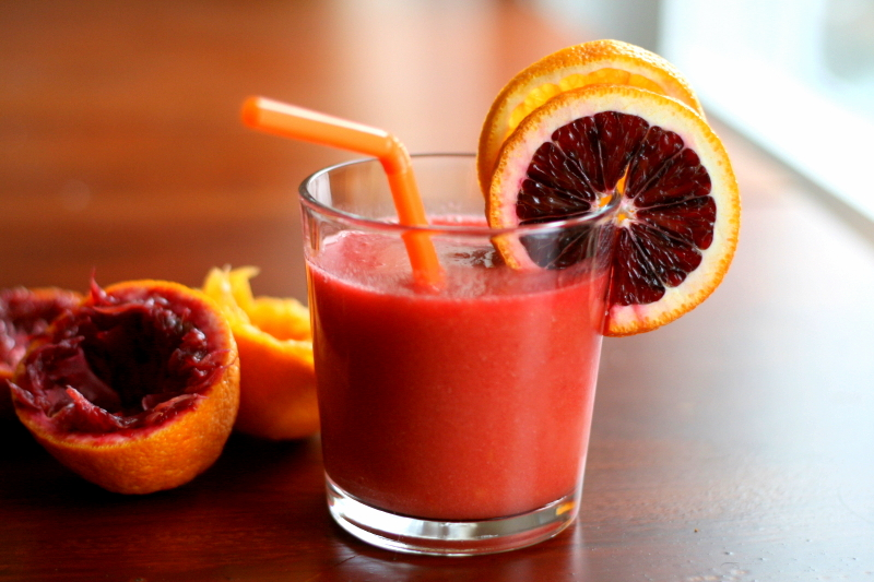 healthy fruit shake blood orange fruit