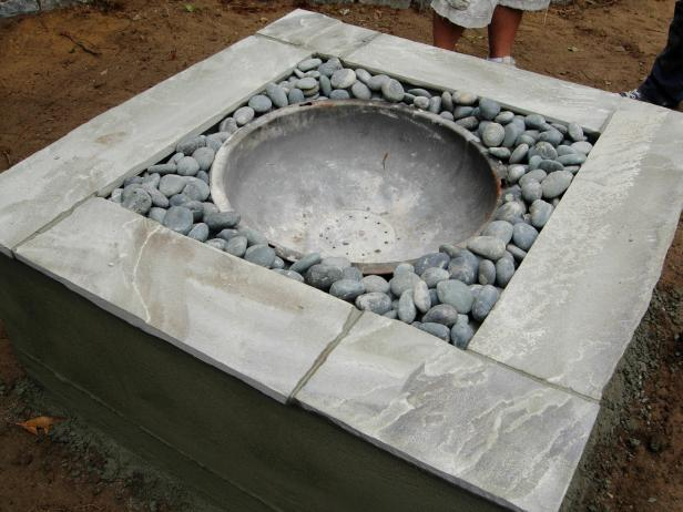 Build Your Own Concrete Fire Feature