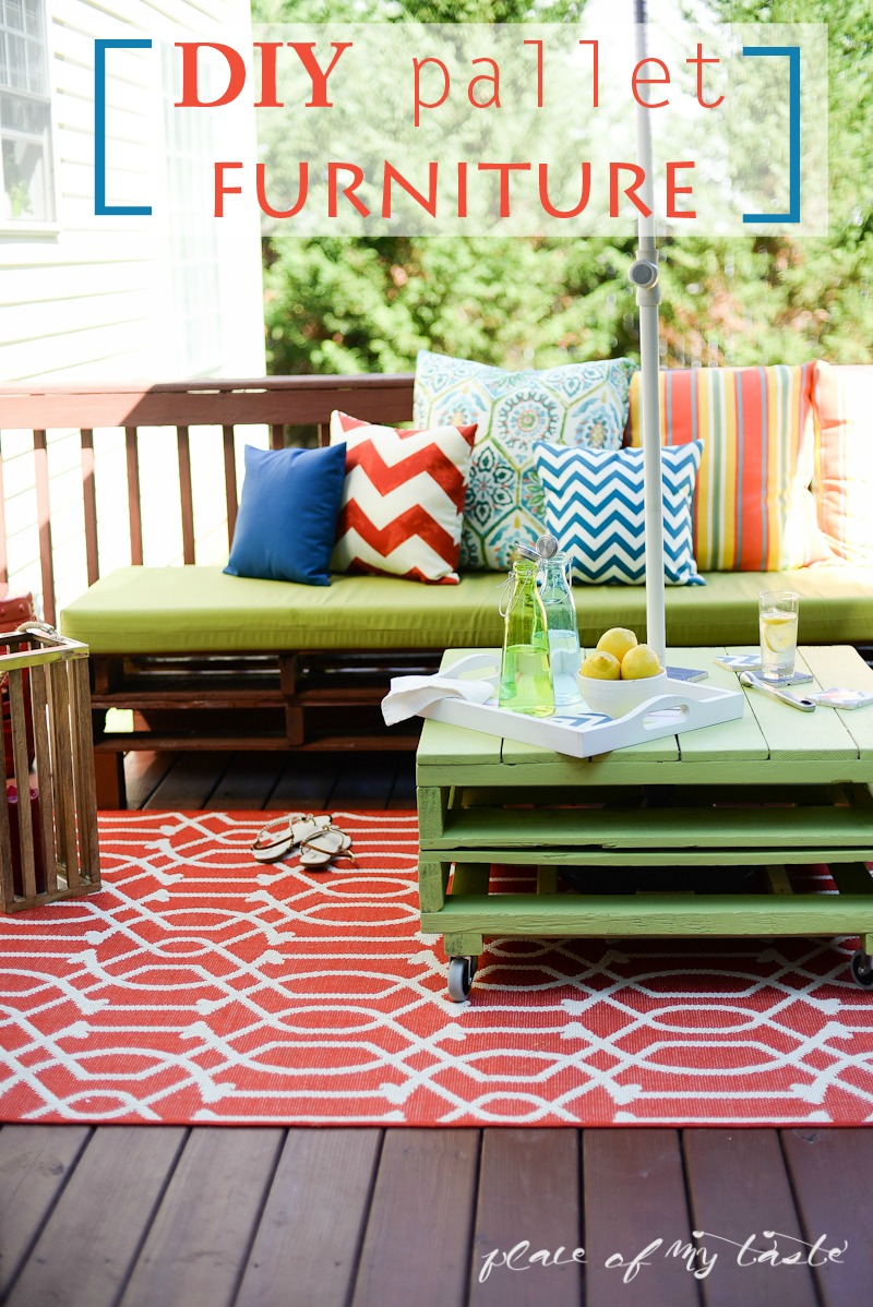 20 DIY Pallet Patio Furniture Tutorials For A Chic And