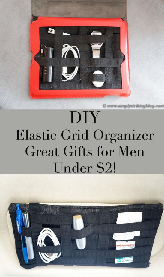 DIY Elastic Grid Organizer