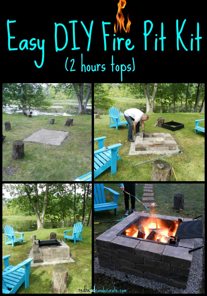 Nicole and Bianca CuteDIYprojects Blogger - DIY Fire Pit Kit – Cute DIY Projects