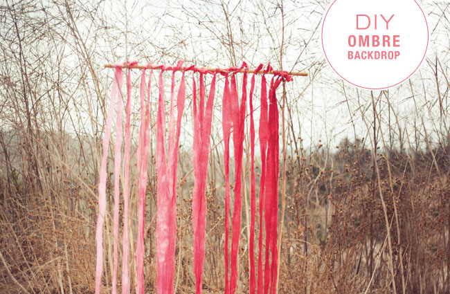 DIY Ombre Backdrop