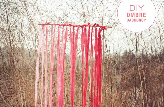 DIY Ombre Backdrop