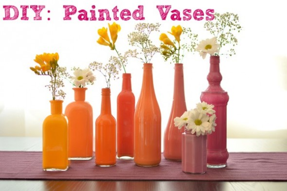 DIY Painted Vases