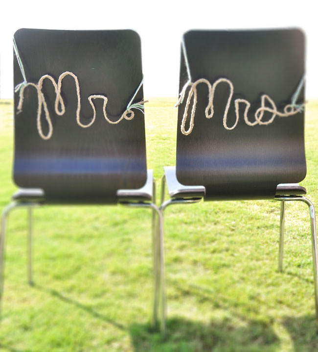 DIY Rope Words For Your Wedding Day