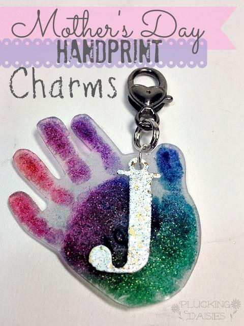 Hand Print Charms