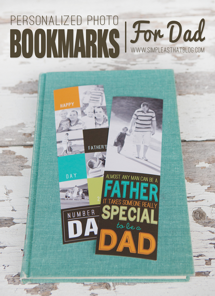 Handmade Photo Bookmarks For Father's Day