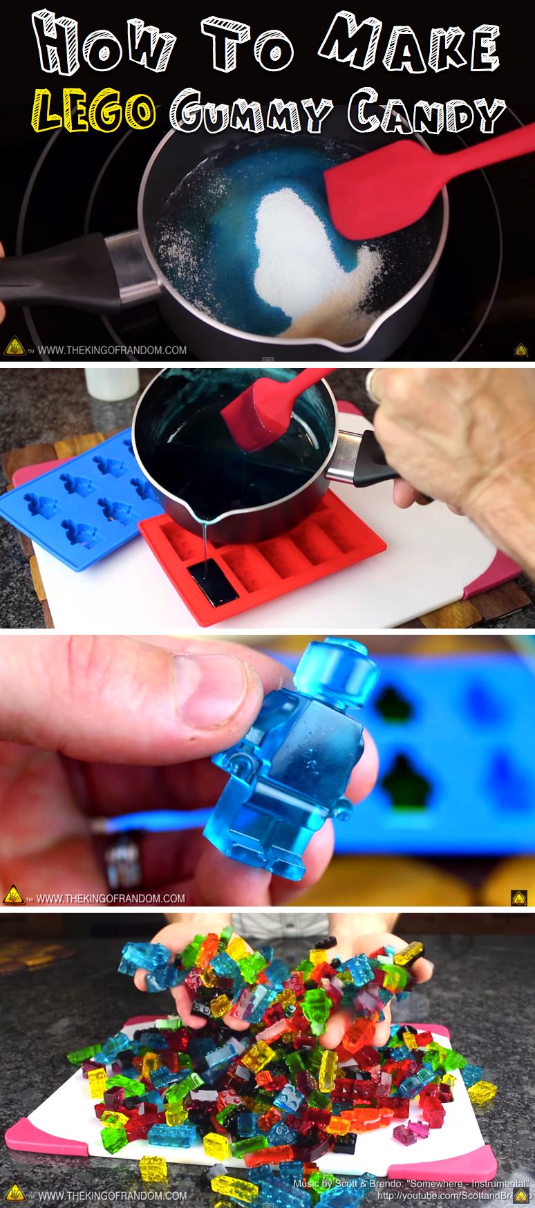 How To Make LEGO Gummy Candy