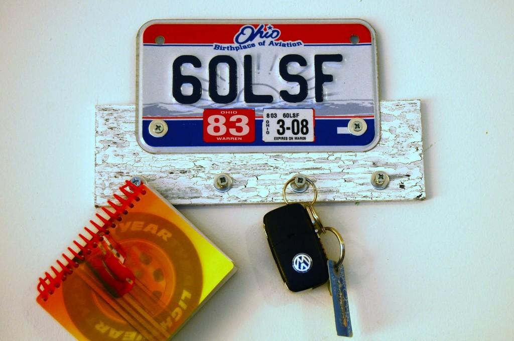 License Plate Key Hanger