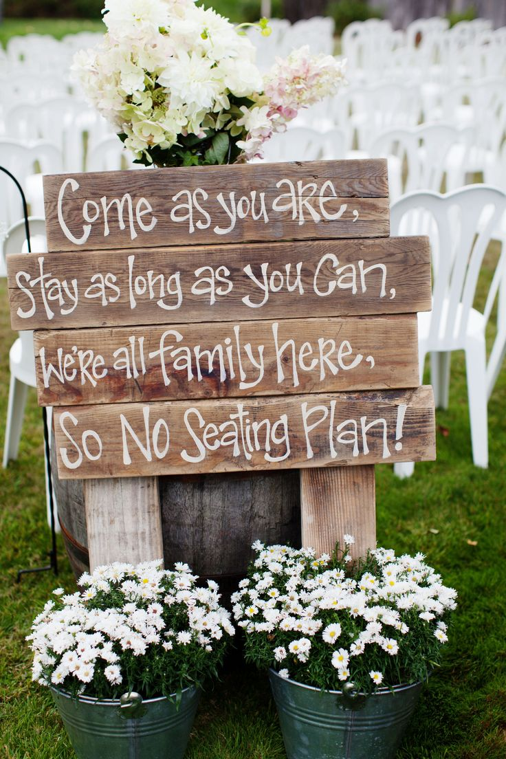 Diy Backyard Wedding Ideas photo wednesday inc Lovely Rustic Wedding Ceremony Sign