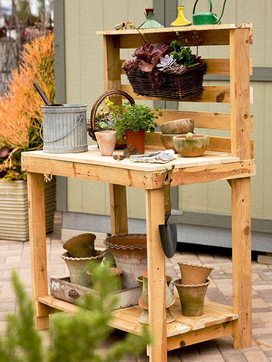 Make A Potting Bench Out Of Pallets