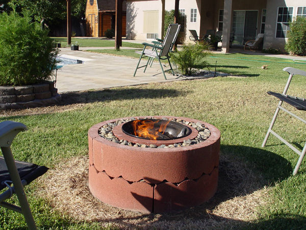 Make Your Own Fire Pit With Concrete Tree Rings